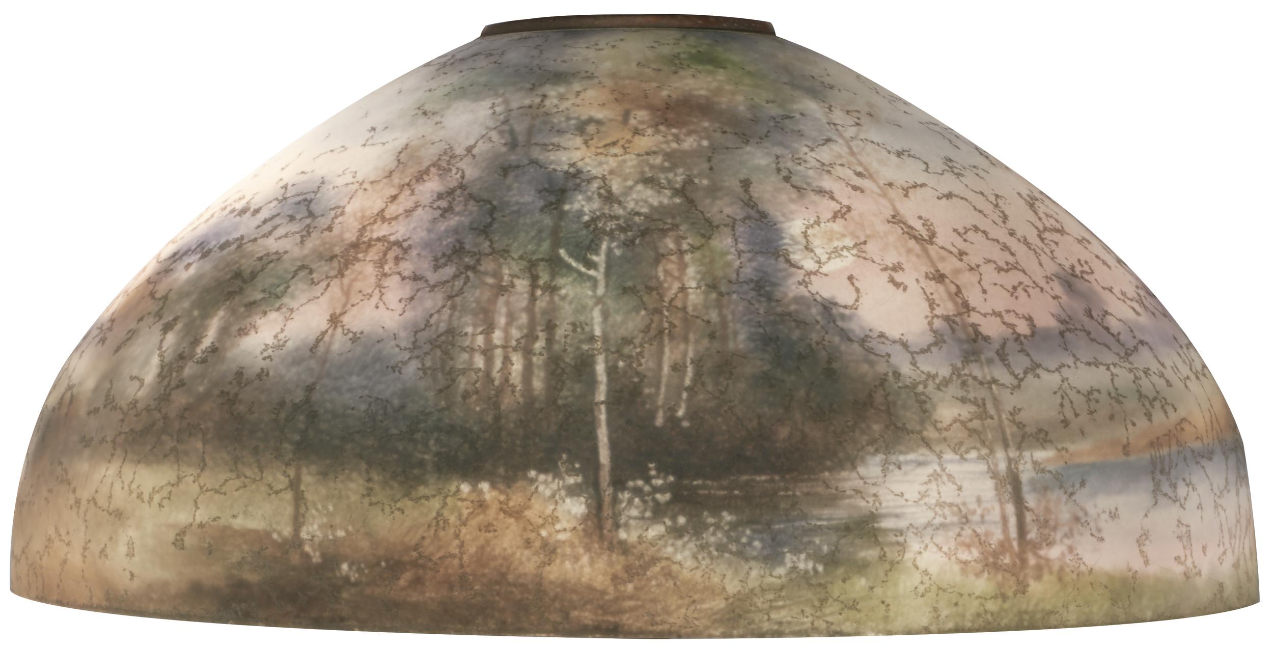 The Handel Lamp Company Landscape Lamp Shade Treadway