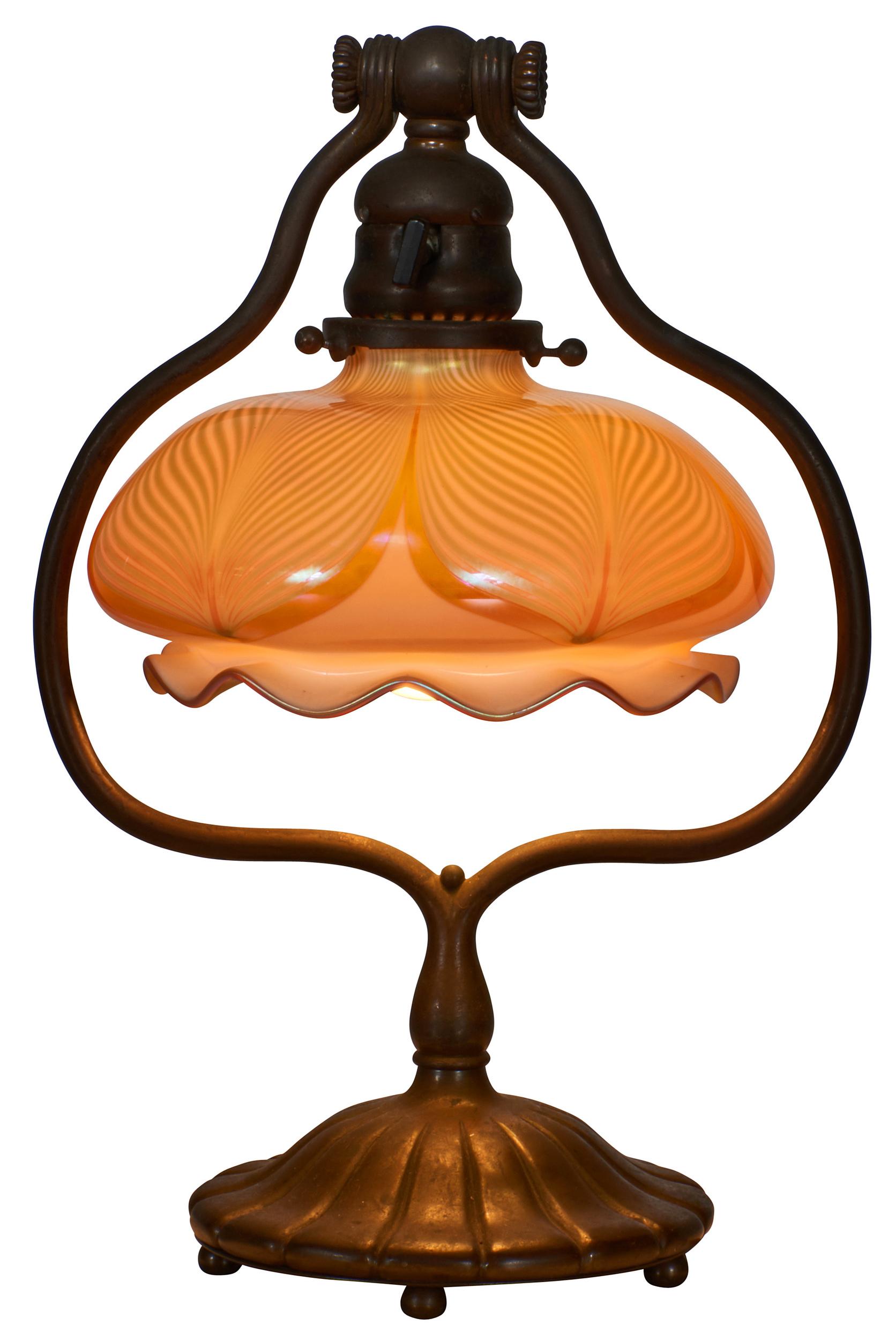 Tiffany Studios Harp Desk Lamp