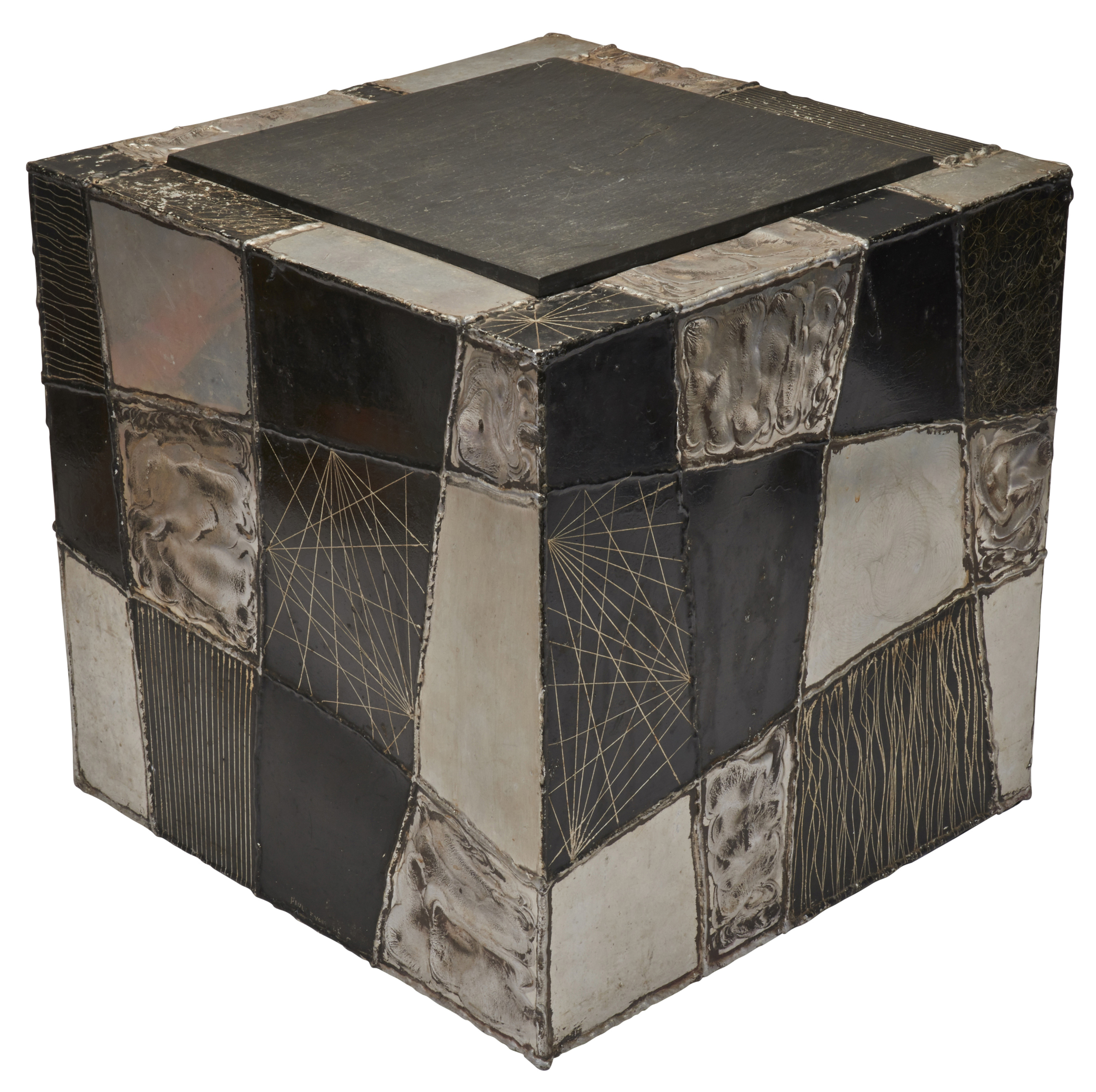 07147c30b6 Paul Evans cube side table | Treadway Gallery
