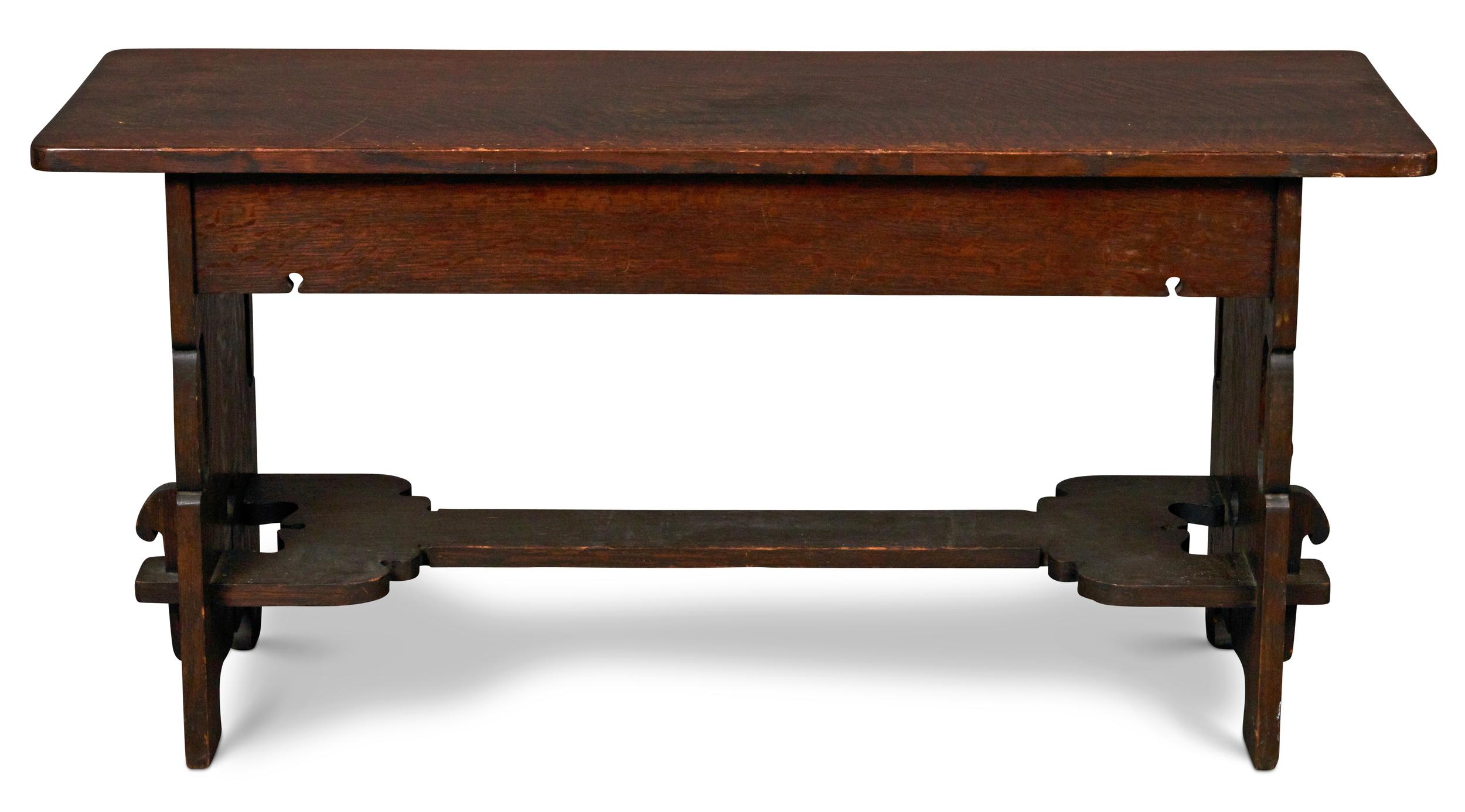 Charles Rohlfs hall bench | Treadway Gallery