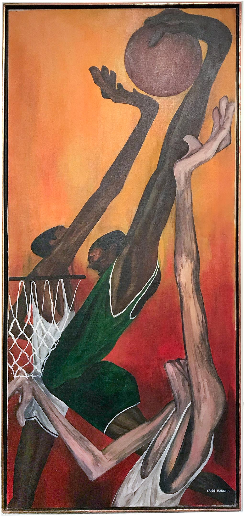 Ernie Barnes Slam Dunk Treadway Gallery