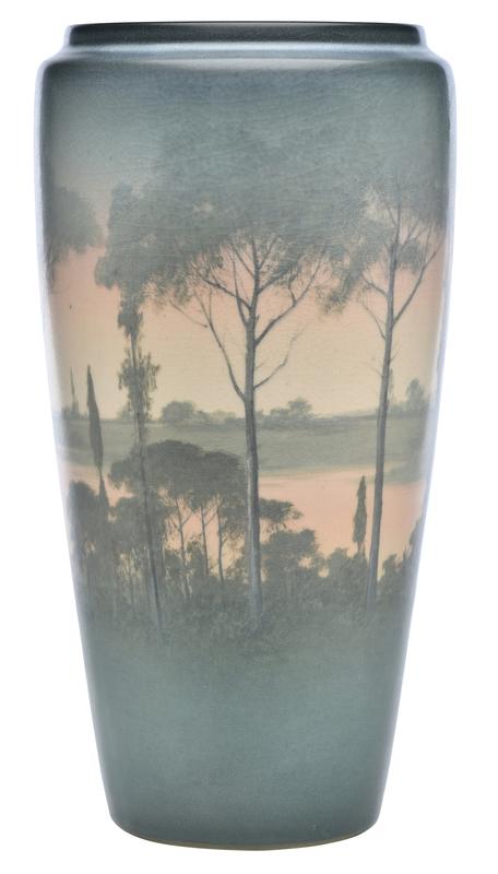 Kataro Shirayamadani for Rookwood Pottery Landscape vase
