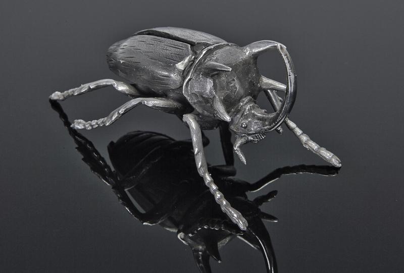 Mario Buccellati rhino beetle sterling silver
