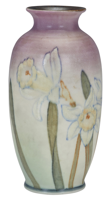 Kataro Shirayamadani for Rookwood Pottery Daffodils vase