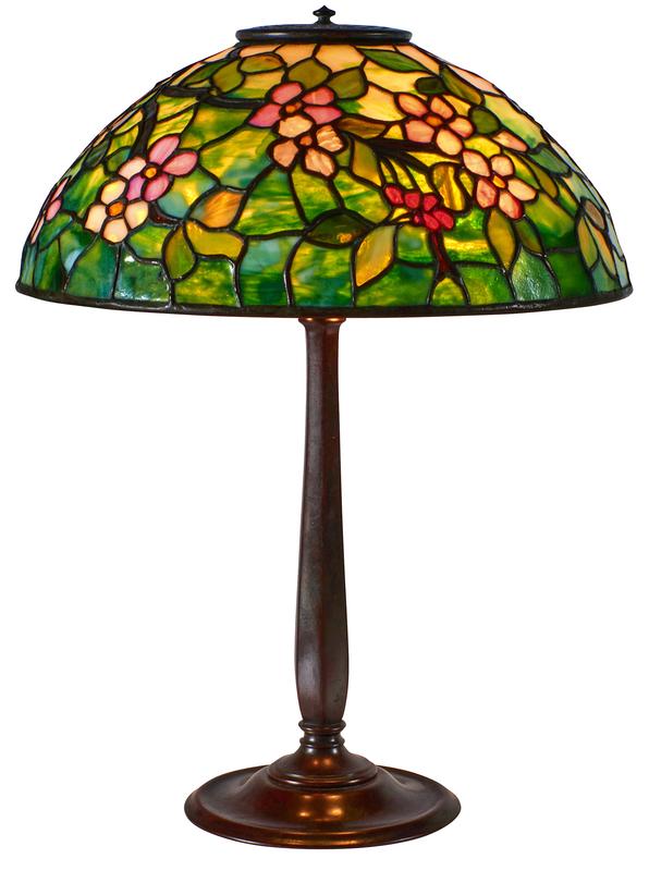Tiffany Studios Apple Blossom table lamp