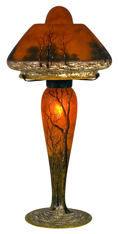 Daum Winter Scene lamp