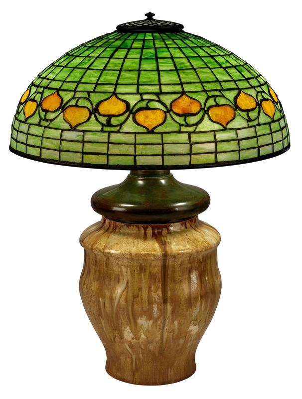 Tiffany Pottery/Tiffany Studios lamp