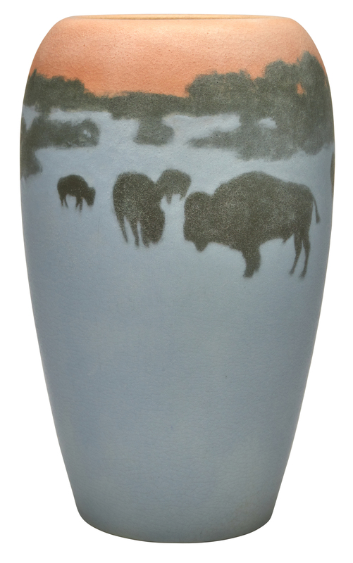 Rookwood Pottery by E.T. Hurley Buffalo vase