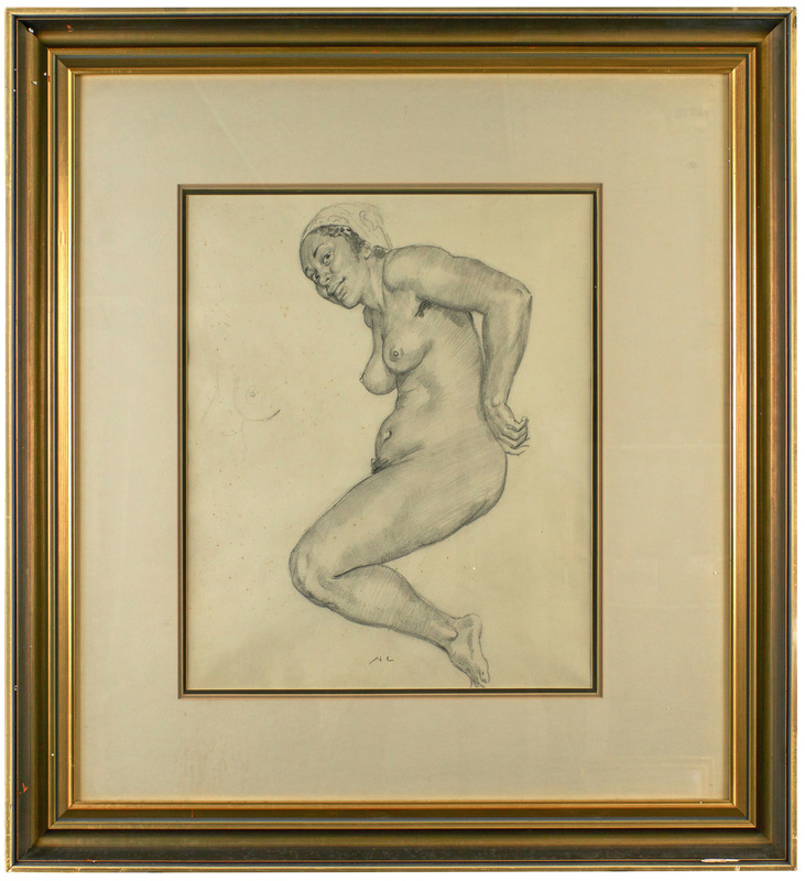Norman Lindsay Nude pencil on paper