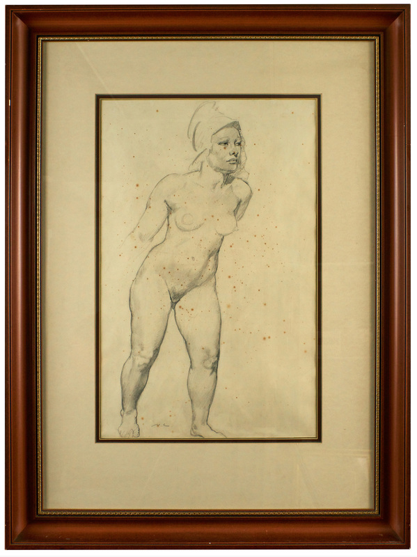 Norman Lindsay Athena pencil on paper