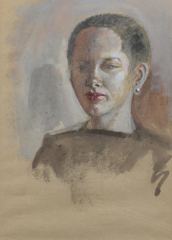 Hughie Lee Smith Portrait of a Woman