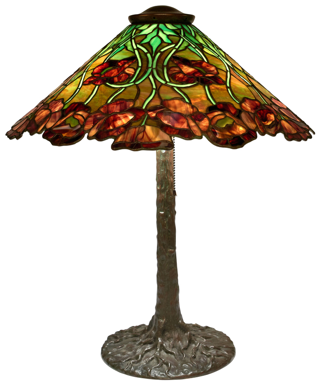 Unique Art Glass & Metal Company  California Poppy table lamp