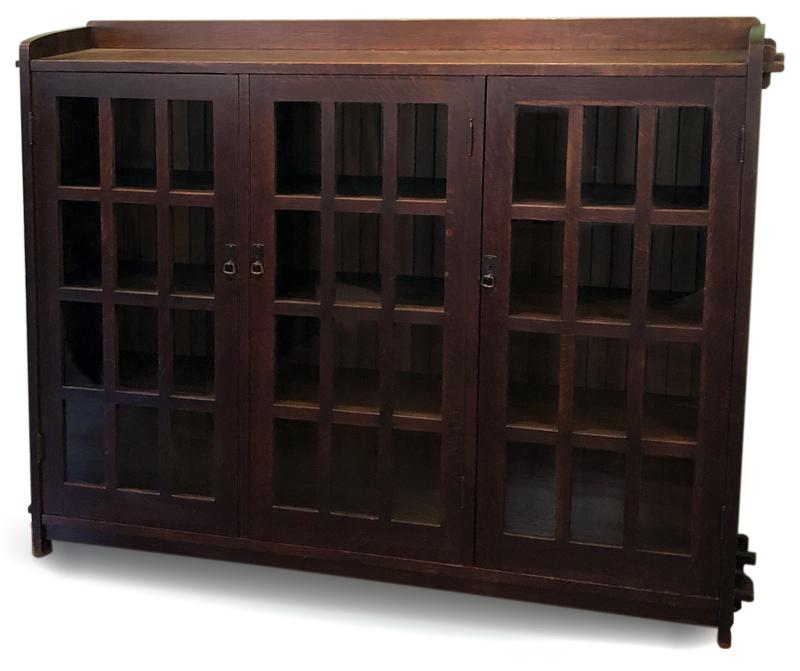 L. & J.G. Stickley three-door bookcase