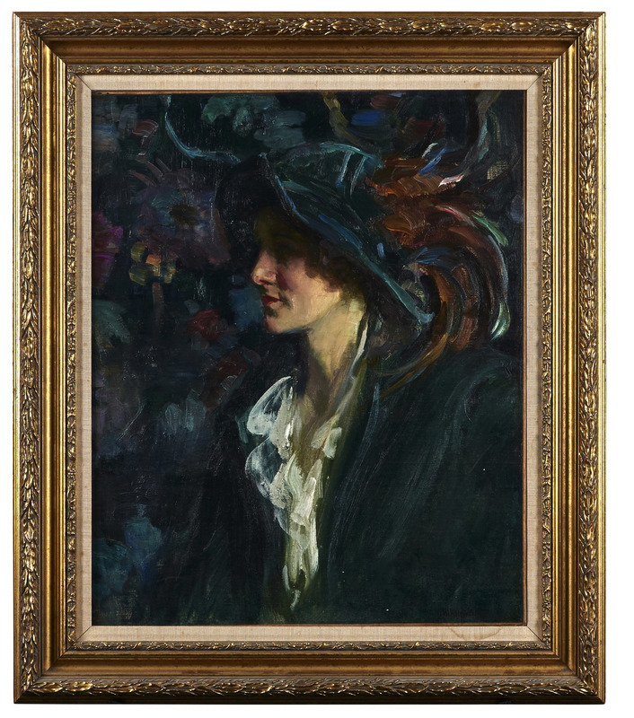 Howard Logan Hildebrandt (American, 1872-1958) oil on canvas