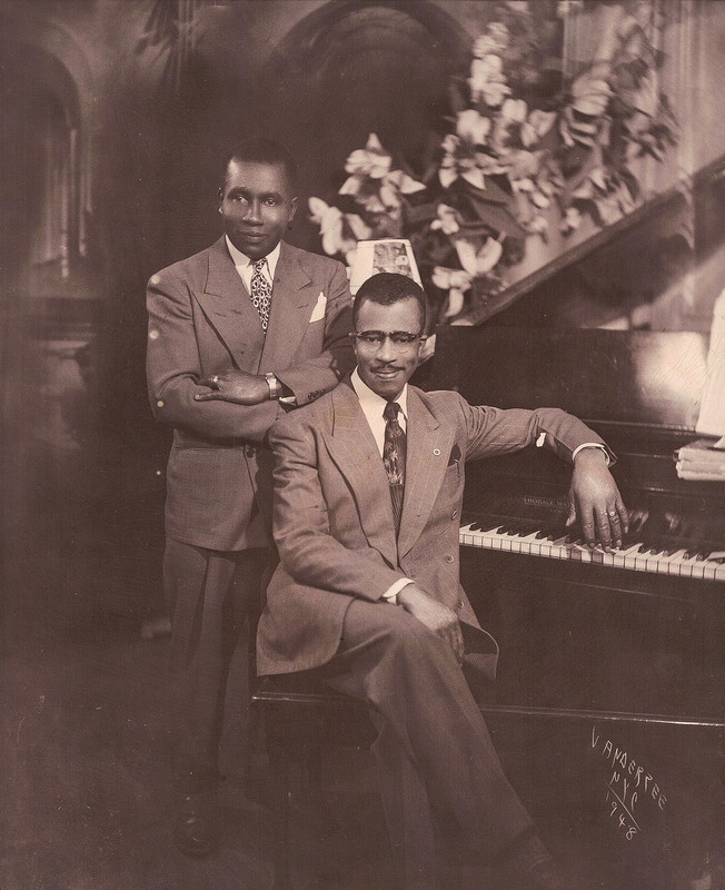 James VanDerZee Studio Portrait of Two Gentleman at a Piano