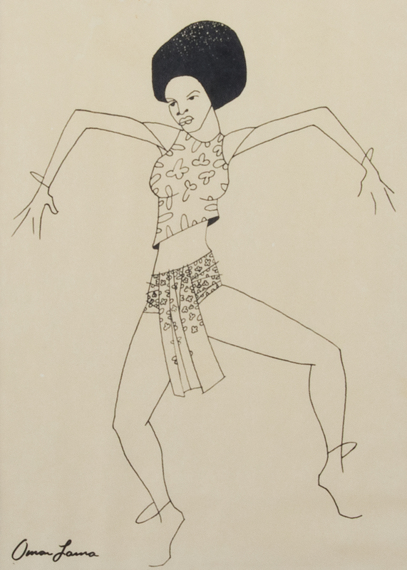 Omar Lama Untitled Portrait of Darlene Blackburn