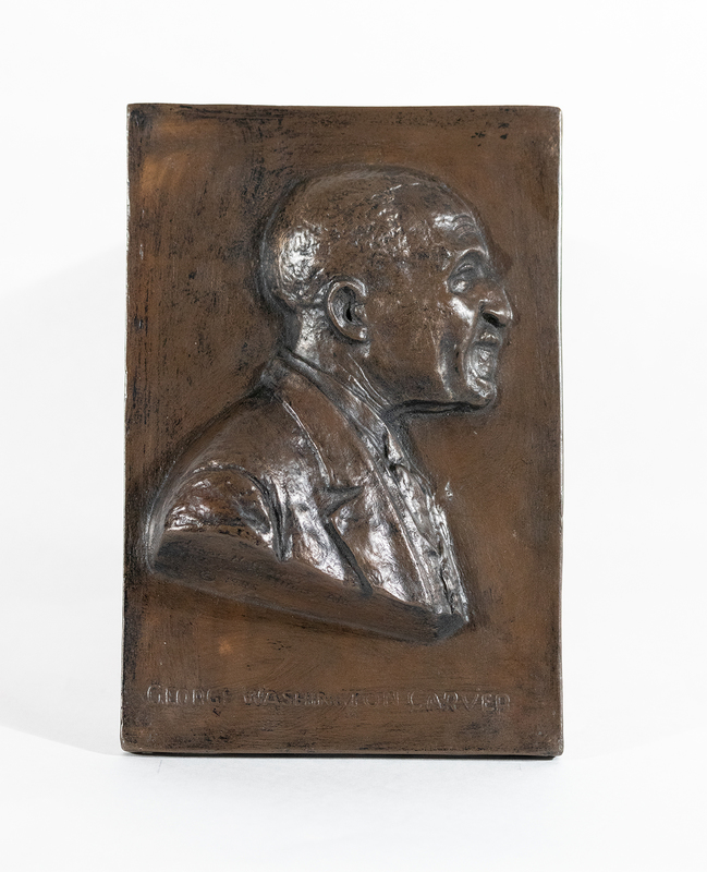 Isaac Scott Hathaway Plaque Depicting George Washington Carver