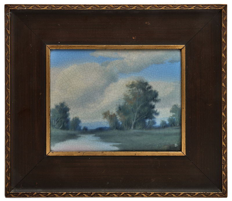 Rookwood Pottery by Ed Diers Rolling Clouds plaque
