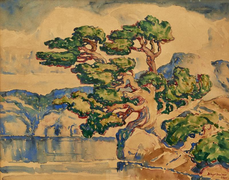 Birger Sandzen watercolor