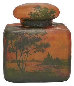 Daum Landscape inkwell
