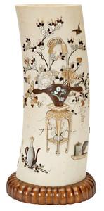 Japanese Ivory vase