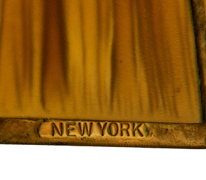Tiffany Studios Harp Linenfold desk lamp