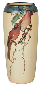 Weller Pottery Cardinal vase