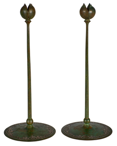 Heintz silver overlay candlesticks