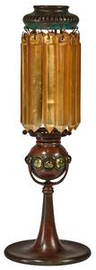 Tiffany Studios prism candlestick