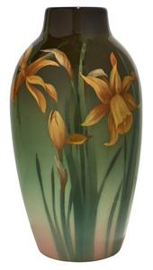 Carl Schmidt for Rookwood Pottery Daffodil vase