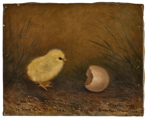 Ben Austrian chick and egg painting