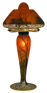 Daum Winter Scene lamp