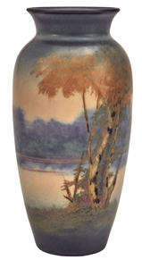 Rookwood Pottery by E.T. Hurley Landscape vase