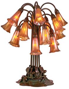 Tiffany Studios Lily lamp, eighteen