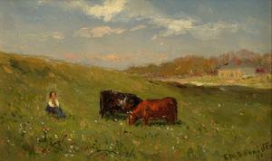 Edward Bannister Untitled Pastoral Landscape
