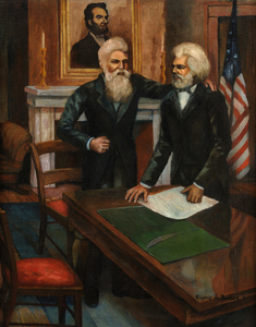 Eugene Alexander Burkes John Brown and Frederick Douglass in Conference