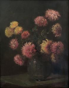 Charles Ethan Porter Still Life With Chrysanthemums