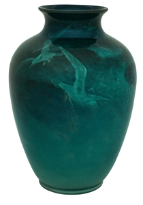 Rookwood Pottery by Sturgis Lawrence The Fishers vase