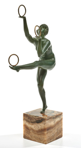 Demetre Chiparus (Romanian-French, 1886-1947) Hoop Dancer, c. 1925