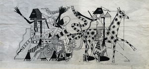 Charles McGee Mural Study Drawing