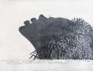 Charles McGee Sketch for Sculpture