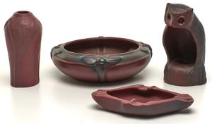 Van Briggle vases, group of four