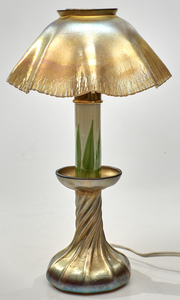 Louis Comfort Tiffany candlestick lamp