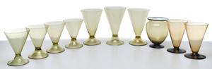 Steuben vases, group of ten