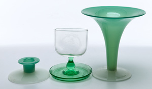 Steuben objects group of three