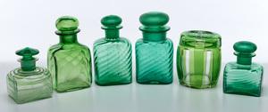 Steuben bottles, group of six