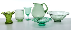 Steuben objects, group of six