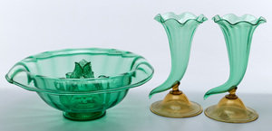 Steuben objects, group of three