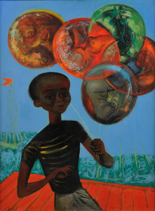 Calvin Burnett Boy With Balloons