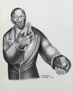 Charles White Study for Frederick Douglass Lives Again